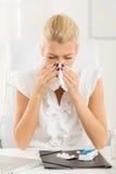 Аллергический работать Стоковое Фото