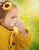 аллергически Портрет весны стоковое фото