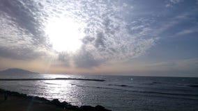Алжирский заход солнца стоковое фото rf