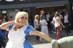 Алиса в стране чудес на Camden, Лондоне, Англии стоковые изображения