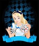 Алиса принимает чашку чая Стоковое фото RF