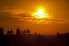 Аддис-Абеба на восходе солнца стоковая фотография