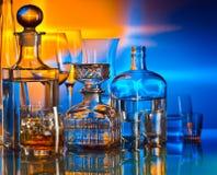 Алкогольные напитки в баре стоковое фото