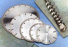 Алмазные круги различных размера и назначения и сверла Стоковая Фотография RF