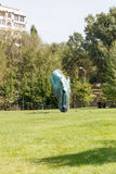 Алма-Ата, Казахстан - 29-ое августа 2016: Голова лошади 7 07 09 12 1962 2010 137124 начали солнце построенное щедрот cleveland co Стоковая Фотография