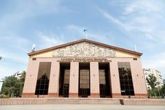 Алма-Ата, Казахстан - 29-ое августа 2016: Преподаватель Thea положения казаха стоковые изображения