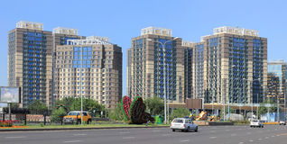 Алма-Ата Площадь ADF жилого массива стоковые изображения