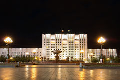 Административное здание на центральной площади названной после Ленина Стоковые Изображения RF