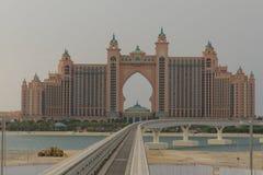 ладонь jumeirah острова гостиницы Атлантиды Дубай Стоковое фото RF