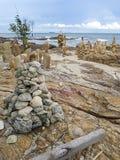 ладонь pacific океана kood koh острова кокоса стоковое изображение rf