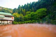 Ад пруда крови Chinoike Jigoku стоковые изображения rf