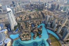 Адрес городской Дубай Стоковые Изображения