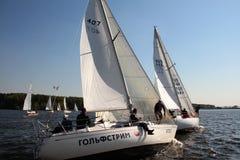 адриатическая Хорватия видит яхту Стоковые Фото