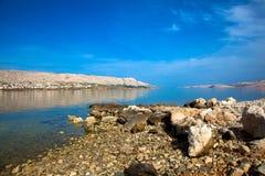 Адриатический пляж Стоковые Изображения