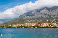Адриатический пляж Makarska Хорватия Стоковые Фотографии RF