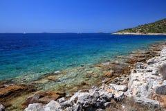 адриатическое море Хорватии стоковое фото