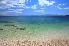 Адриатическое море Хорватии стоковое изображение rf
