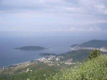 Адриатическое море Черногории Стоковые Фотографии RF