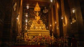Алтар внутри виска, Бангкока, Таиланда Стоковое Изображение