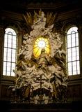 Алтар католической церкви Duomo Неаполь Стоковое фото RF