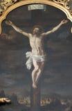 Алтар святого креста, церков Mariahilf в Граце стоковые изображения rf