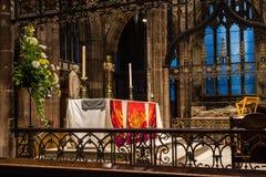 Алтар a собора Манчестера Стоковые Изображения RF