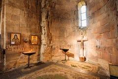 Алтар Mtskheta Georgia церков Jvari, интерьера святилища внутри Стоковое Изображение