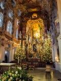 Алтар Wieskirche Стоковые Изображения