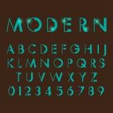 Алфавитные шрифты и номера Стоковое Изображение