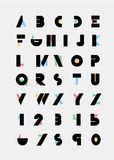 Алфавитные шрифты Стоковое Изображение RF