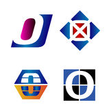 алфавитный логос письма конструкции принципиальных схем письмо o Стоковые Фото