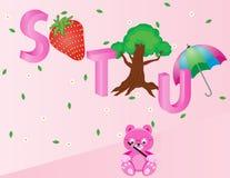 Алфавиты для детей STU Стоковое Фото
