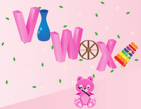 Алфавиты для детей VWX Стоковая Фотография