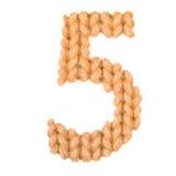 Алфавит 5, апельсин 5 цвета Стоковое Изображение RF