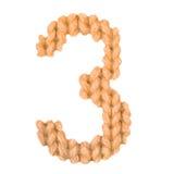 Алфавит 3, апельсин 3 цвета Стоковая Фотография RF