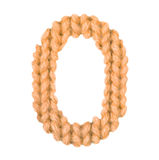 Алфавит 0, апельсин цвета Стоковые Изображения RF