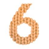 6 6 алфавит, апельсин цвета Стоковые Изображения RF