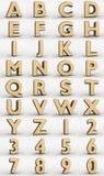 Алфавит вафли бесплатная иллюстрация