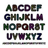 алфавит вектора Неон-стиля Стоковая Фотография
