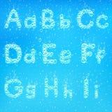 Алфавит вектора пузырей мыла Стоковые Изображения RF