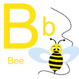 Алфавит вектора с животными b Стоковые Фотографии RF