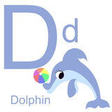 Алфавит вектора с животными d Стоковые Изображения RF