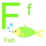 Алфавит вектора с животными f Стоковое Изображение
