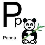 Алфавит вектора с животными p Стоковая Фотография