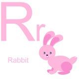 Алфавит вектора с животными r Стоковое фото RF