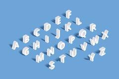 Алфавит вектора 3d равновеликий Стоковое Фото