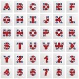 Алфавит Великобритании иллюстрация штока