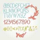 Алфавит в каллиграфии Стоковое фото RF