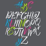 Алфавит в каллиграфии бесплатная иллюстрация