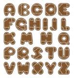 Алфавит в форме печений имбиря Стоковое фото RF